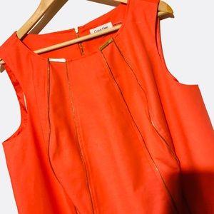 Calvin Klein zipper dress plus sz